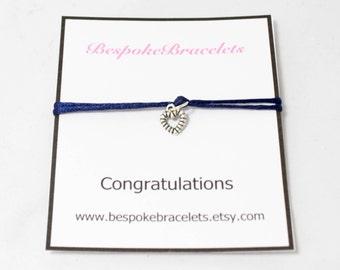 Congratulations gift | Congratulations bracelet | Charm bracelet | Graduation gift | Engagement gift |  Stackable bracelet | Bracelet gift