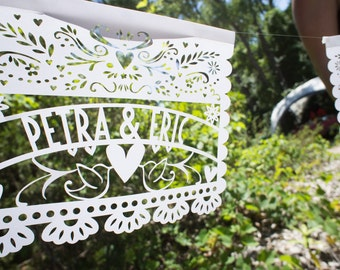 Laser-Cut Papercutting Artwork - CUSTOM Papel Picado Mexican Wedding Banner
