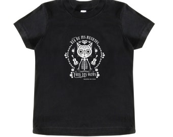 Cat Day of the Dead on Baby-Toddler Short-Sleeved Tee Shirt