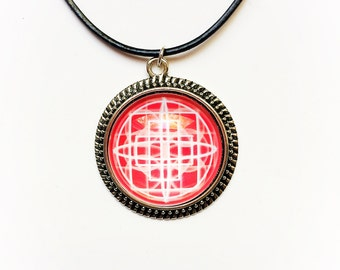 Red Mandala Necklace