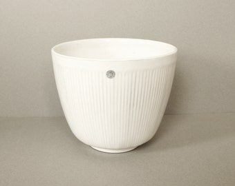 Upsala Ekeby Planter Flower Pot White Mid Century Modern Sweden