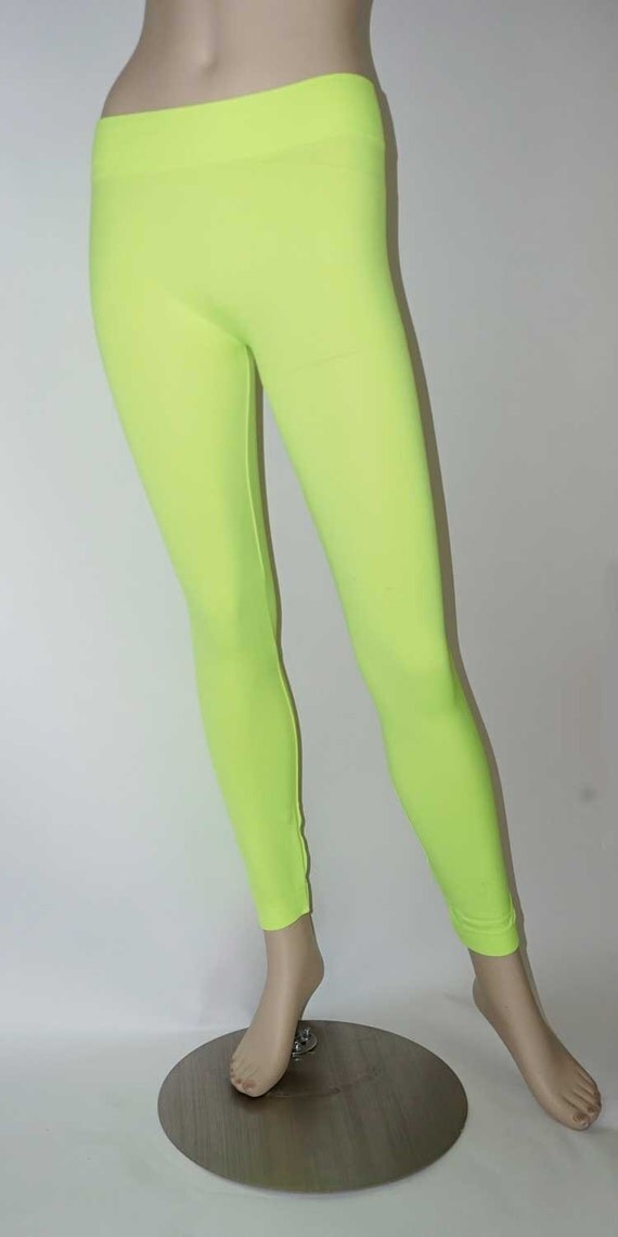 Neon footless tights leg warmers exercise by FineFeatherings