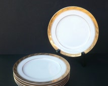 6 piece Sango Imperial Deluxe Bread And Butter Plate Set in CLEOPATRA© / Gold Trim / Made in Japan / Kitchen and Dining / Serving