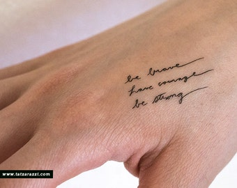French joi de vivre tattoo tatoo tatto temporary fake peel and for Small cursive tattoos