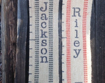 Handmade PERSONALIZED Jute Growth Chart for Kids - 6 Foot Child's Height Chart Perfect for Your Rustic Decor