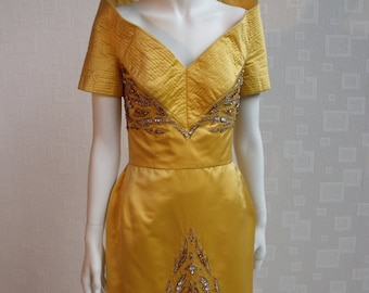 Dramatic Vintage Couture Stage Gown by Darnell of London