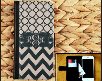 Wallet Case iPhone 7 7 Plus 5 6 6+ 6 Plus Samsung Galaxy 3 4 and 5 S3 S4 S5 S6 Case Cell Phone Accessories Monogrammed Custom Personalized