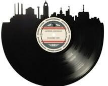 Lansing Skyline Records Redone Label Vinyl Record Art