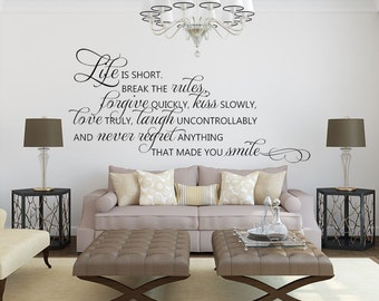 Inspirational Wall Decor - Inspirational Quote - Wall Decor - Vinyl Wall Decal - Wall Decal - Decal - Family Quotes Wall Decals