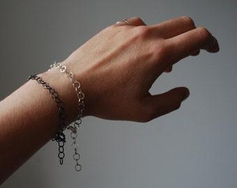 Bracelet, sterling silver bracelet, larger chain