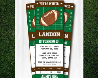 Football Invitation - DIY Instantly Downloadable and EDITABLE File!! Personalize with Adobe Reader Now! - Football Party Supplies