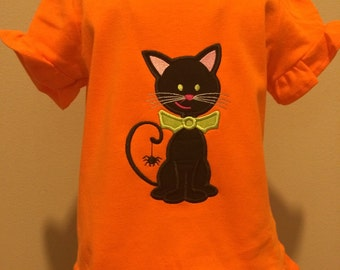 Halloween kitty cat shirt