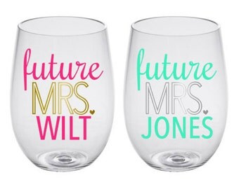 Future Mrs. Personalized Wine Glass