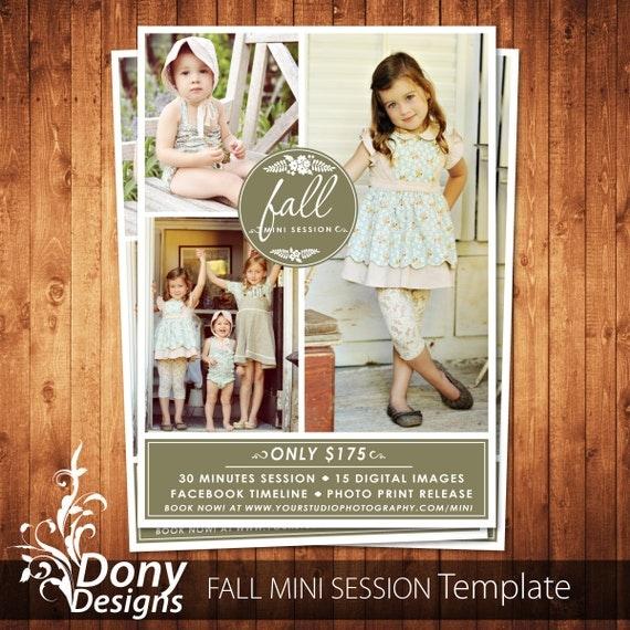 Fall Mini Session Photoshop Template Outdoor Mini Session