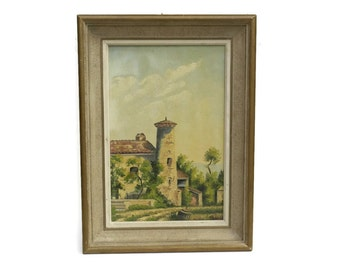 French Country Painting. Landscape Oil Painting On Canvas. Provence Decor.