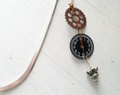 Clock Gear Bookmark ~ Victorian Steampunk Copper Wire & Metal Marker