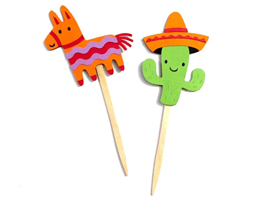 Mexican Birthday Cake Toppers