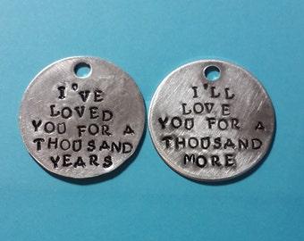 A Thousand Years - Couples' Necklace - Christina Perri Lyrics - Twilight