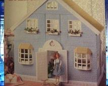 American School of Needlework Fashion Doll House in Plastic Canvas, by Kooler Design Studio, Barbie House Pattern, Barbie House Furniture