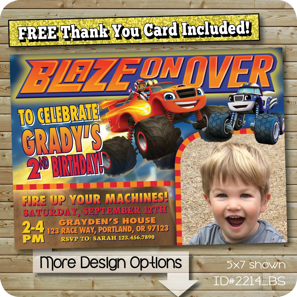 Blaze Invitation Blaze And The Monster Machines By