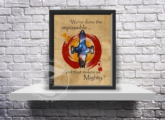 Firefly Serenity Poster Custom print poster Choose Quote, Size and Frame