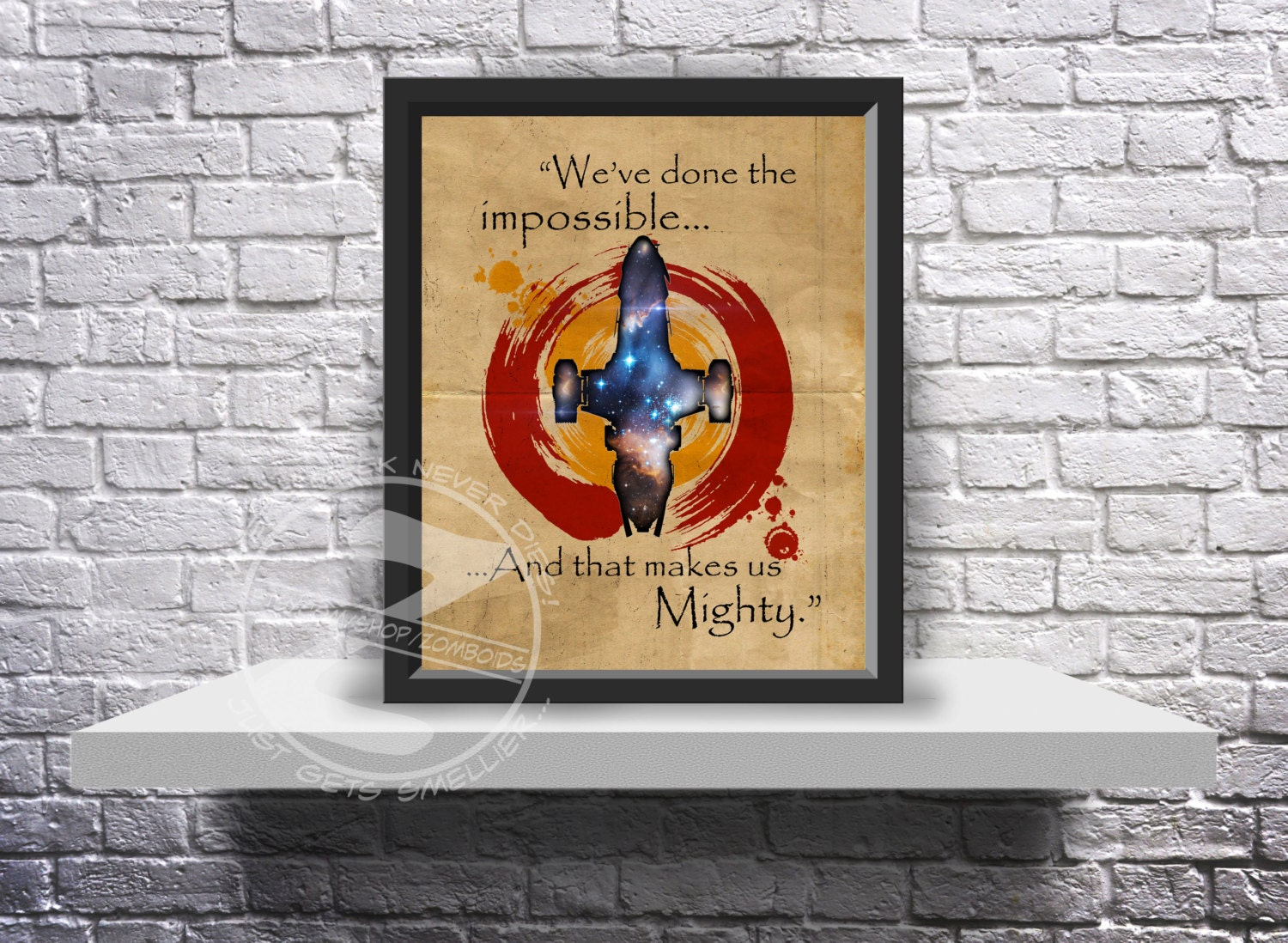 Custom Quote Prints Firefly Serenity Poster Custom Print Poster Choose Quote Size And