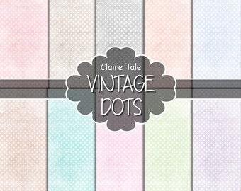 Pale polka dots digital paper, Pale polka dots pattern, Wedding polka dots pattern, Pale polka dots background, Pale polka dots printable