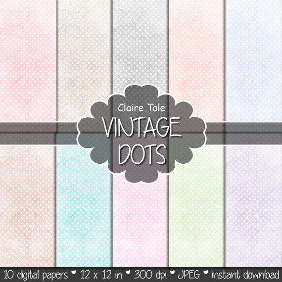 Pale polka dots digital paper, Pale polka dots pattern, Wedding polka dots pattern, Pale polka dots background, Pale polka dots printable