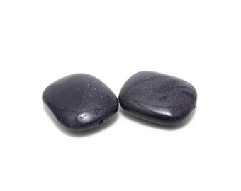 Genuine Navy Blue Goldstone Rounded Rectangles 25x29mm 1 pcs