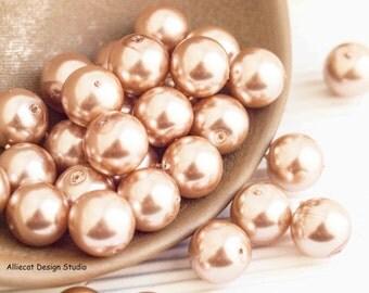 DESTASH 20 Beige Glass Pearl Beads (D081)