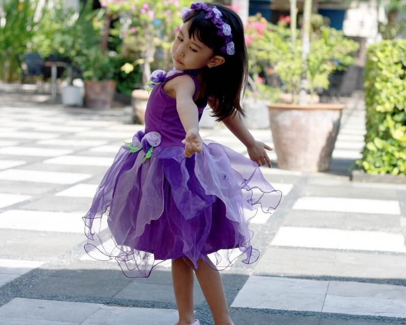 Purple Fairy Dress Violet purple Fairy costume Girl's