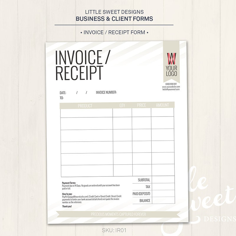 photography studio / invoice receipt form photoshop template, Invoice templates