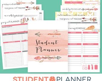 College Planner EDITABLE Printables, Student Academic Organizer, Southwest Arrow Theme, Back to School