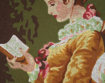 """Needlepoint Canvas """"The Reader by Jean Honore Fragonard"""""""