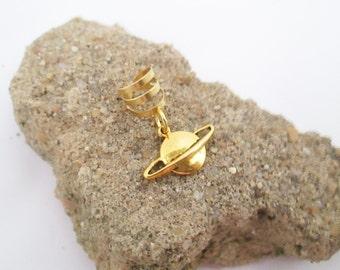 Gold saturn ear cuff wrap
