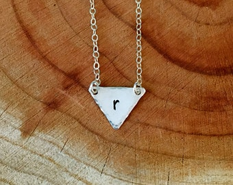 Initial Necklace, Triangle Necklace