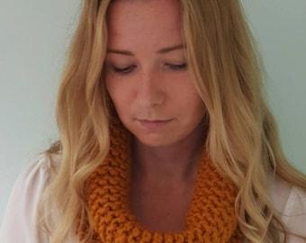 Harbor Cowl - Butterscotch - Knit Scarf