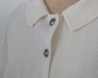 Vintage 60s mod white poly cape