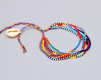 Adjustable African Bracelet Seed Bead Bracelet Masai Bracelet Multistrand Bracelet Seed Bead Bracelet Beach Jewelry