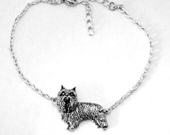 Yorkshire Terrier Dog (Yorkie) Anklet, Ankle Bracelet, Handmade in England, Chain, (th)