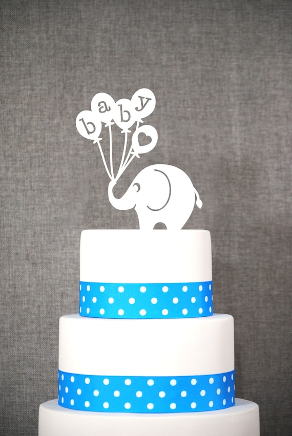 baby elephant cake topper