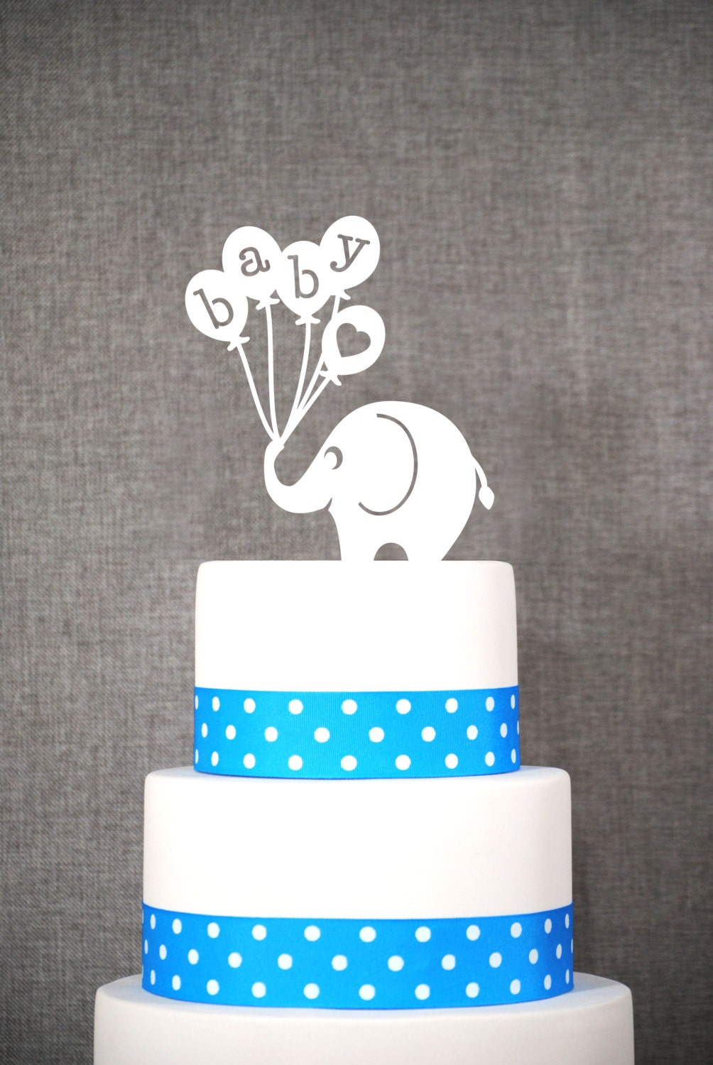 baby elephant cake topper fun baby shower topper classic