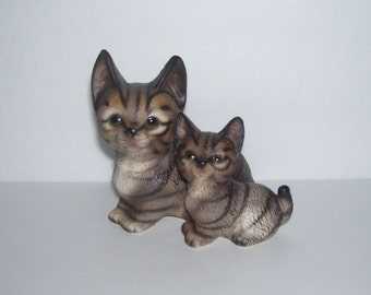 Harvey Knox Kingdom Striped Tabby Cat Duo Figurine C001F