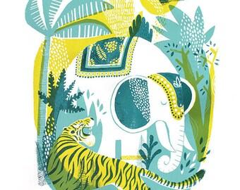 Jungle // Original hand pulled screenprint