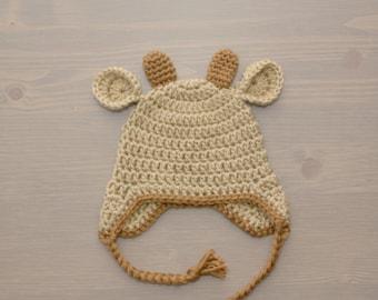 Crochet Deer Hat, Crochet Baby Hat, Newborn Photography Prop, Crocheted Baby Hat, Baby Boy, Baby Girl, Baby Shower Gift, Baby Deer Hat