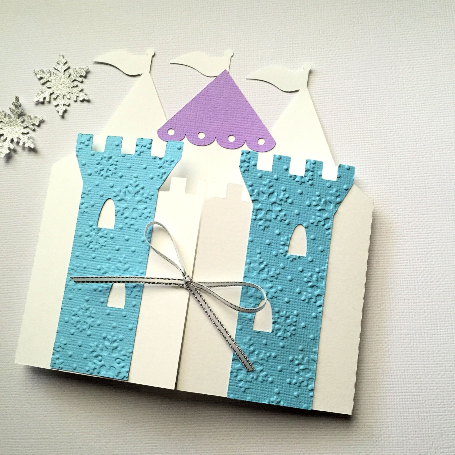 Ice Queen Princess Castle Invitation folders Snowflake – Snowflake Birthday Invitations