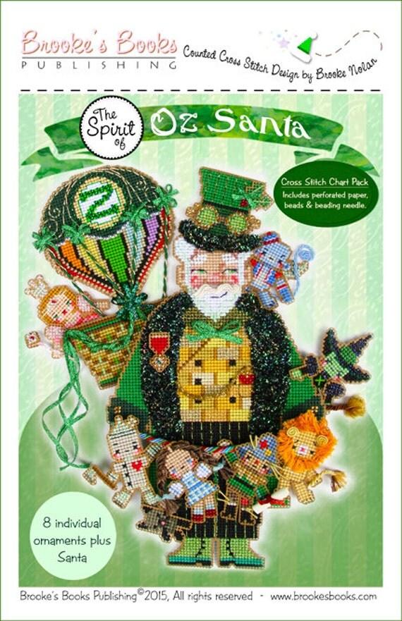Brooke's Books Spirit of Oz Santa Dimensional Cross Stitch Ornament CHART PACK
