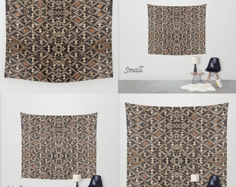 African Art - Art Tapestry Wall Tapestry Photo Tapestry / Exclusive Kuba Cloth Design #2 / Large Wall Art ~ Wall Hanging / Polyester Fabric