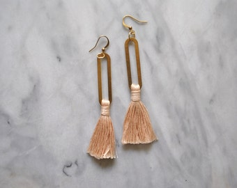 Saguaro Tassel Earrings // Fiber Earrings