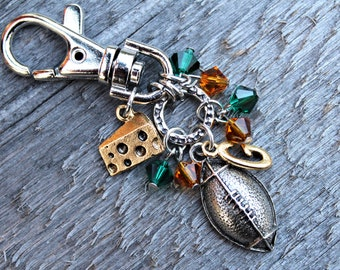 Green Bay Packers Purse/Bag Jewelry, Zipper Pull, Packers Jewelry